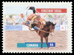 Kingsway Skoal Canada Postage Stamp   Horses