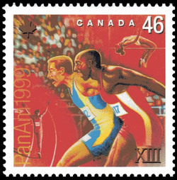Track and Field Canada Postage Stamp | Pan American Games