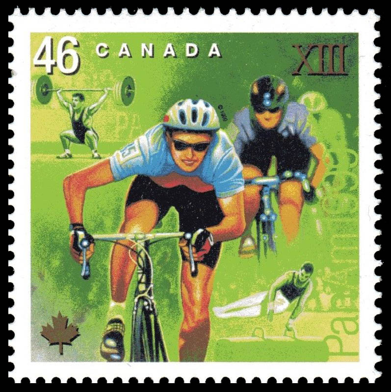 Cycling, Weight-lifting, Gymnastic Canada Postage Stamp | Pan American Games