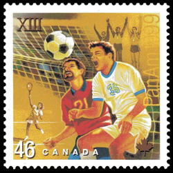 Soccer, Tennis Canada Postage Stamp | Pan American Games