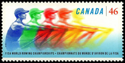FISA World Rowing Championships Canada Postage Stamp