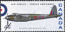 De Havilland Mosquito F.B. VI Canada Postage Stamp | Air Forces