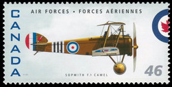 Sopwith F.1 Camel Canada Postage Stamp | Air Forces