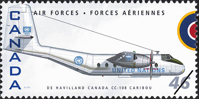 De Havilland Canada CC-108 Caribou Canada Postage Stamp | Air Forces