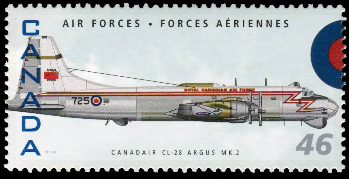 Canadair CL-28 Argus MK.2 Canada Postage Stamp | Air Forces