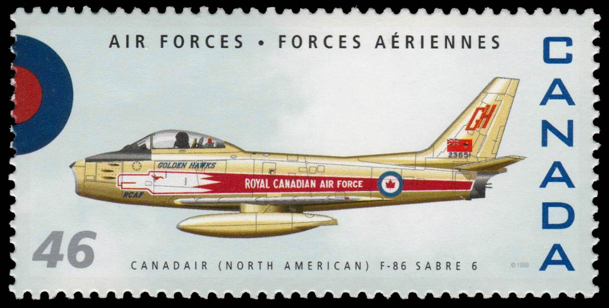 Canadair (North American) F-86 Sabre 6 Canada Postage Stamp | Air Forces