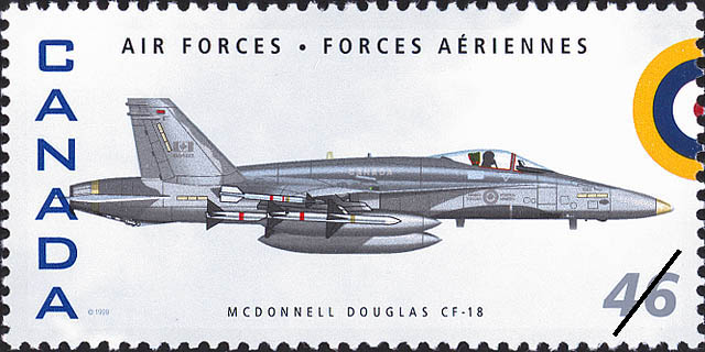 McDonnell Douglas CF-18 Canada Postage Stamp   Air Forces