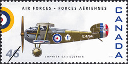 Sopwith 5.F.1 Dolphin Canada Postage Stamp | Air Forces