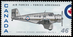 Canadian Vickers (Northrop) Delta II Canada Postage Stamp | Air Forces