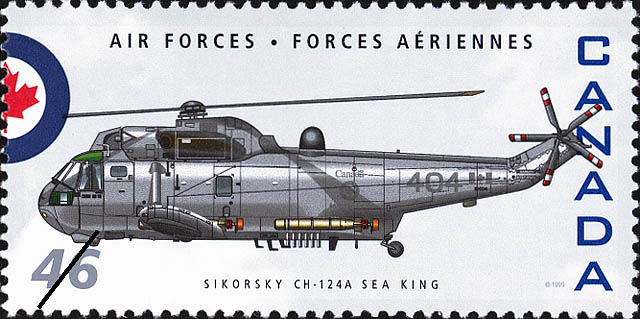Sikorsky CH-124A Sea King Canada Postage Stamp | Air Forces