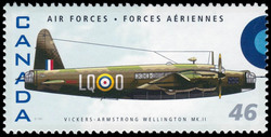 Vickers-Armstrong Wellington MK.II Canada Postage Stamp | Air Forces