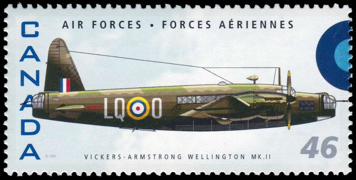 Vickers-Armstrong Wellington MK.II Canada Postage Stamp