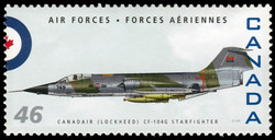 Canadair (Lockheed) CF-104G Starfighter Canada Postage Stamp | Air Forces
