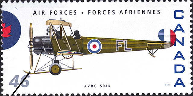 Avro 504K Canada Postage Stamp | Air Forces