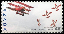Fokker DR.-1, Canadair CT-114 Tutor Canada Postage Stamp | Canadian International Air Show