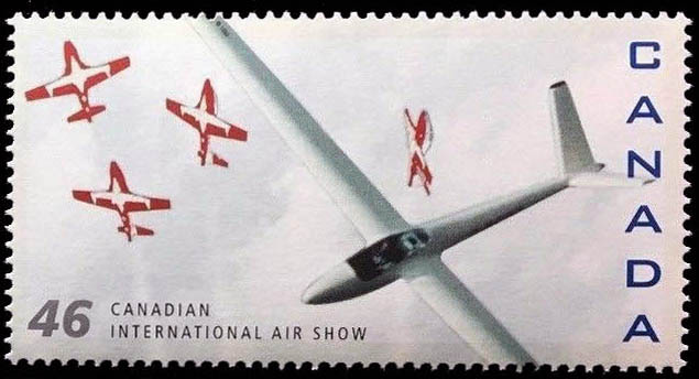 H101 Salto, Canadair CT-114 Tutor Canada Postage Stamp | Canadian International Air Show