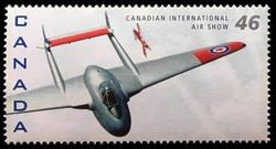 De Havilland DH100 Vampire MK.III, Canadair CT-114 Tutor Canada Postage Stamp | Canadian International Air Show
