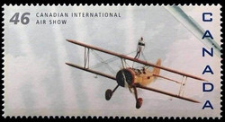 Stearman A-75, H101 Salto Canada Postage Stamp | Canadian International Air Show