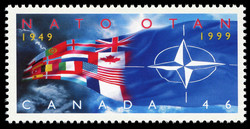 NATO, 1949-1999 Canada Postage Stamp