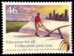 Frontier College, 1899-1999, Education for all Canada Postage Stamp