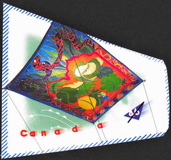 Indian Garden Flying Carpet - Edo Kite Canada Postage Stamp | Kites