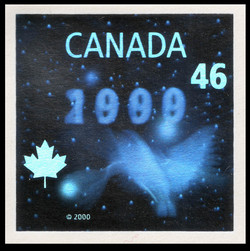 Future of Stamp Production Hologram - Millennium  Canada Postage Stamp | The Official Millennium Keepsake