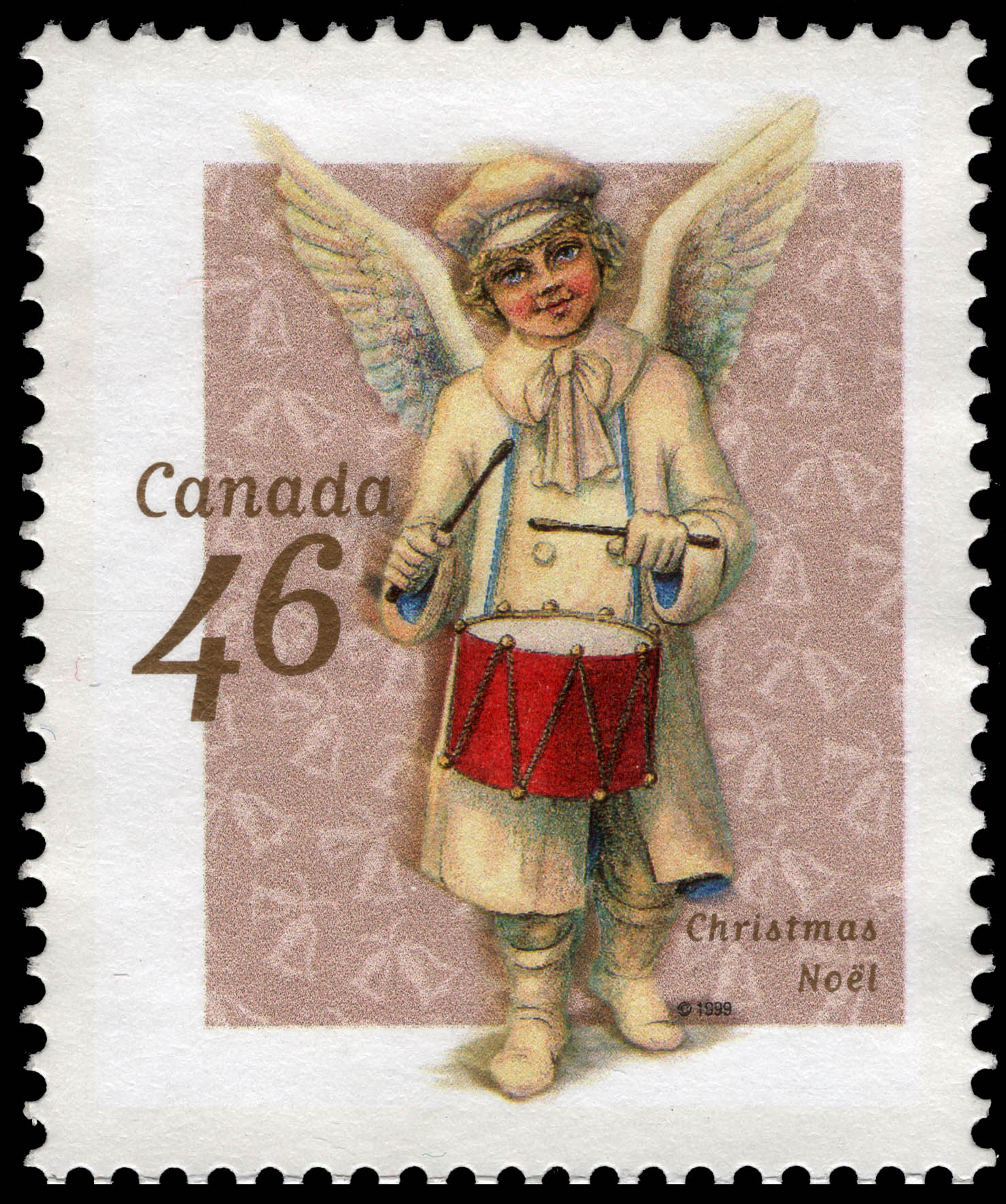 Angel Beating a Drum Canada Postage Stamp