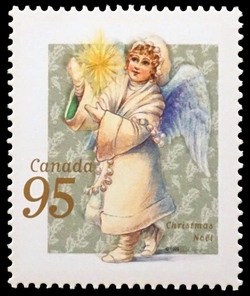 Angel with a Festive Star Canada Postage Stamp | Christmas, Victorian Angels
