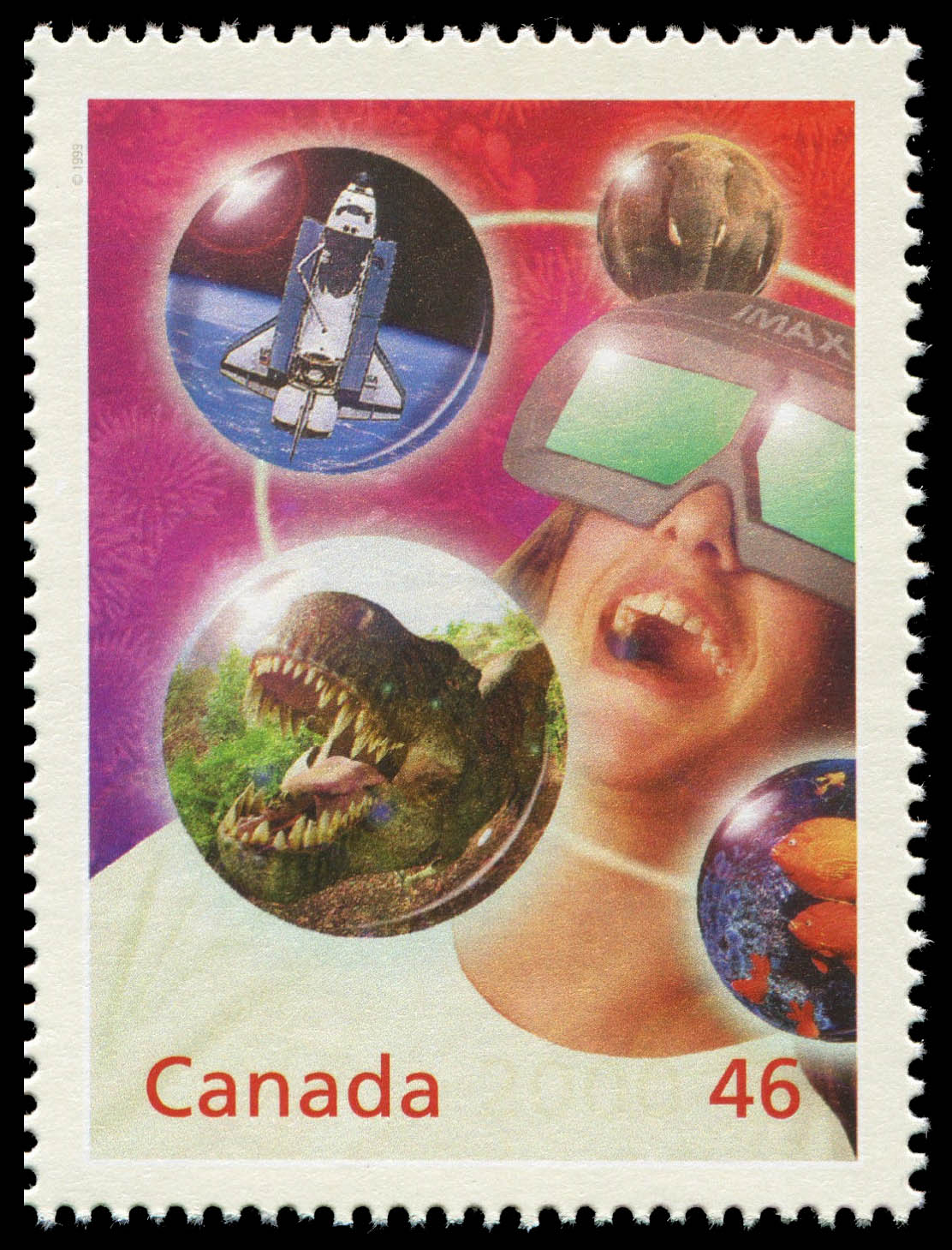 IMAX: A New Kind of Movie Canada Postage Stamp | The Millennium Collection, Media Technologies
