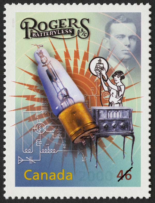 Ted Rogers Sr.: Plugging in the Radio Canada Postage Stamp   The Millennium Collection, Media Technologies