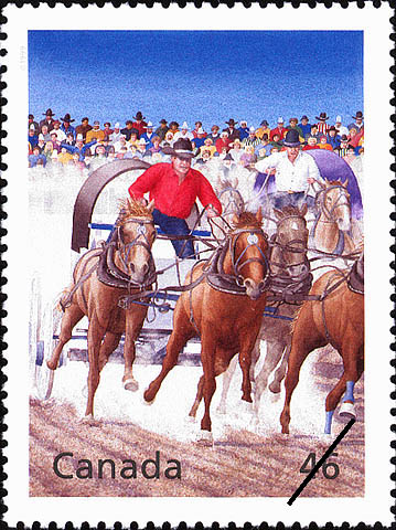 The Wild West Comes Alive at the Calgary Stampede Canada Postage Stamp | The Millennium Collection, Canadian Entertainment