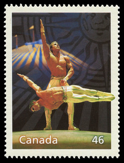 Cirque du Soleil: A World of Fun Canada Postage Stamp | The Millennium Collection, Canadian Entertainment