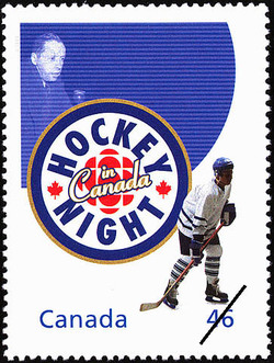"""Hockey Night in Canada: """"He Shoots, He Scores"""" Canada Postage Stamp 
