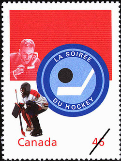 La Soiree du hockey: Live From the Forum Canada Postage Stamp | The Millennium Collection, Canadian Entertainment