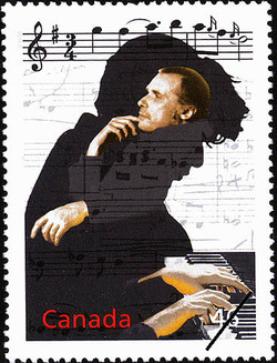 Glenn Gould's Variations Canada Postage Stamp | The Millennium Collection, Extraordinary Entertainers
