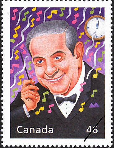 Guy Lombardo: Happy New Year Canada Postage Stamp | The Millennium Collection, Extraordinary Entertainers