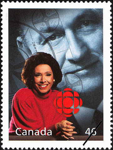 Canadian Broadcasting Corporation (CBC) Canada Postage Stamp | The Millennium Collection, Fostering Canadian Talent