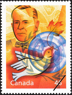 Lester B. Pearson: On Guard for World Peace Canada Postage Stamp | The Millennium Collection, Humanitarians and Peacekeepers