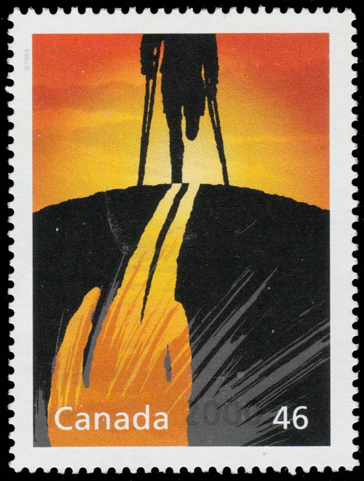 Canada's Historic Role in Banning Land Mines Canada Postage Stamp | The Millennium Collection, Humanitarians and Peacekeepers