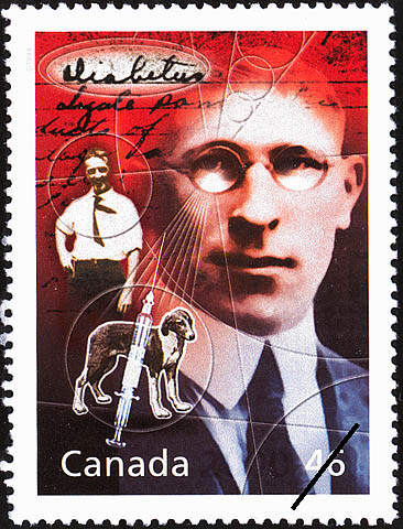 Sir Frederick Banting's Nobel Achievement Canada Postage Stamp | The Millennium Collection, Medical Innovators