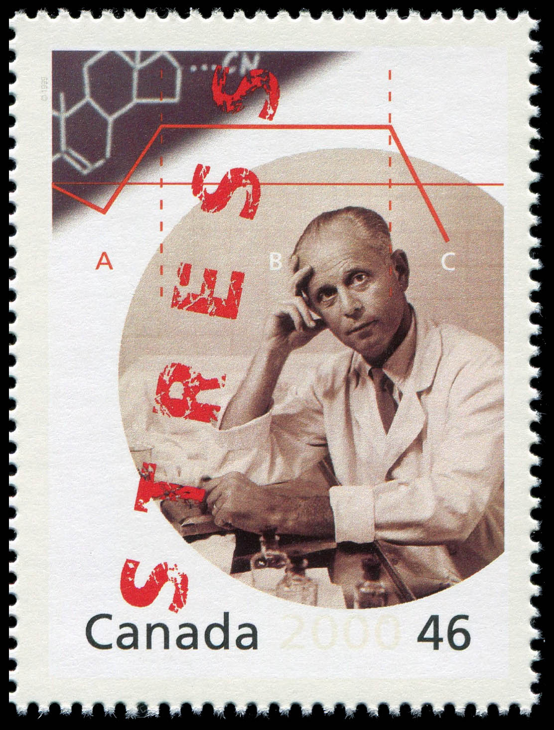 Dr. Hans Selye: Documenting the Stress of Life Canada Postage Stamp | The Millennium Collection, Medical Innovators