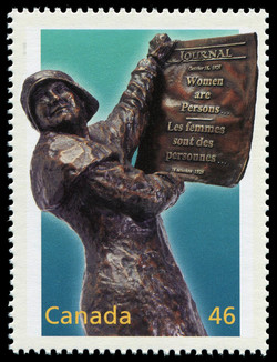 Women are Persons... Canada Postage Stamp | The Millennium Collection, Social Progress