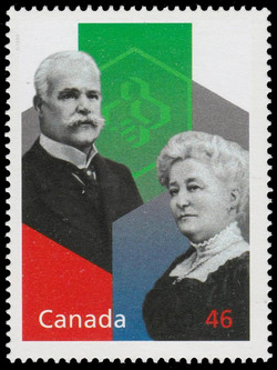 Alphonse and Dorimene Desjardins: Small Savings, Big Results Canada Postage Stamp | The Millennium Collection, Social Progress