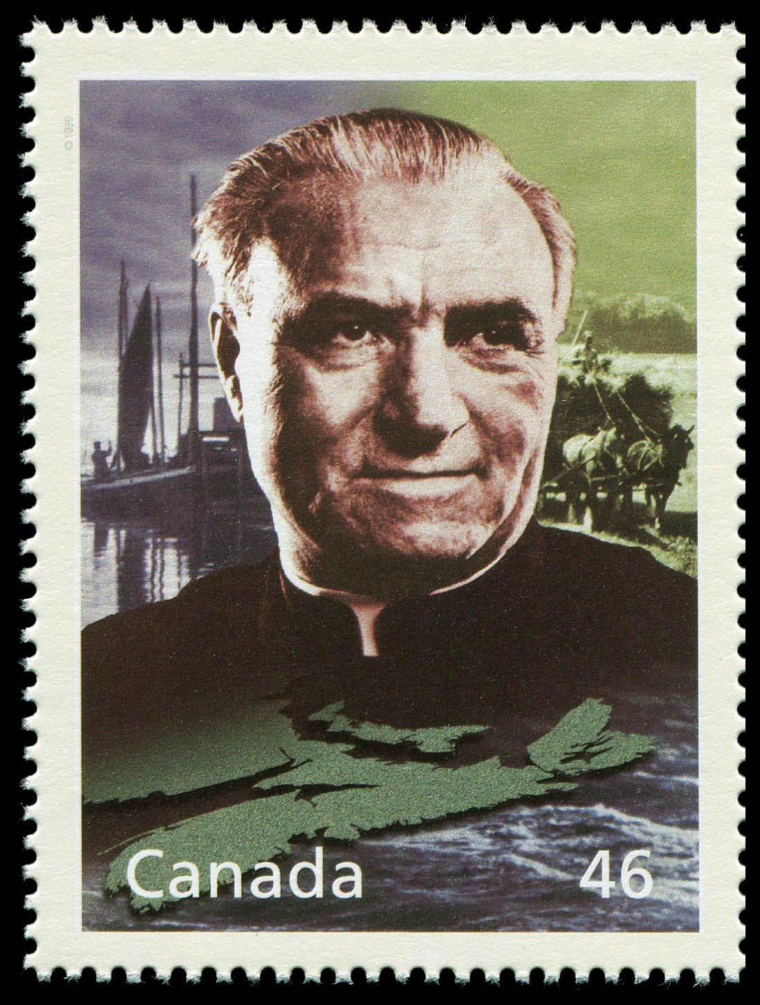 Moses Coady and the Cooperative Movement Canada Postage Stamp