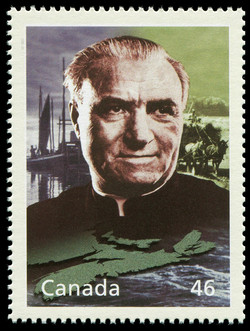 Moses Coady and the Cooperative Movement Canada Postage Stamp | The Millennium Collection, Social Progress