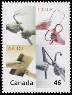 CIDA: Sharing the Nation's Heart Globally Canada Postage Stamp | The Millennium Collection, Hearts of Gold