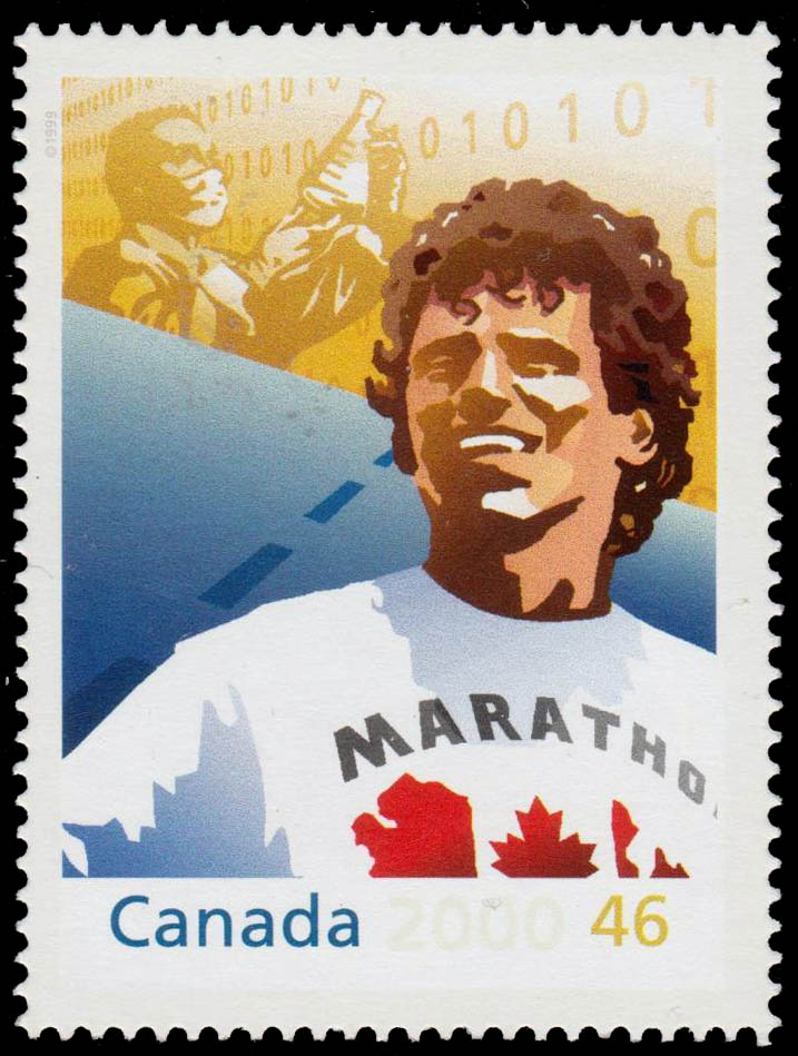 Terry Fox: Marathon of Hope Canada Postage Stamp | The Millennium Collection, Hearts of Gold