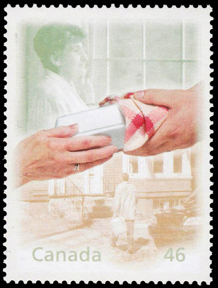 Meals and Friends on Wheels Canada Postage Stamp | The Millennium Collection, Hearts of Gold