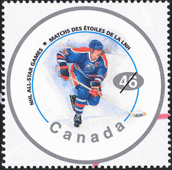 "Wayne Gretzky, ""The Great One"" Canada Postage Stamp 