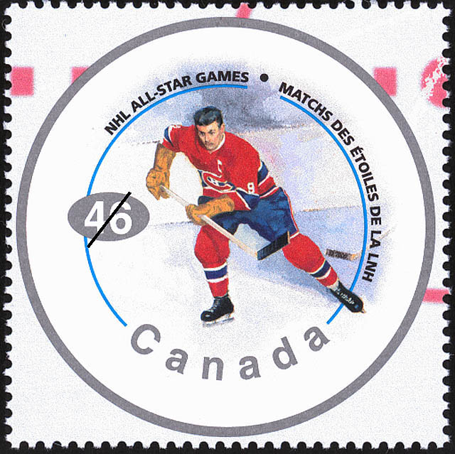 "Maurice ""Rocket"" Richard Canada Postage Stamp | NHL All-Stars"